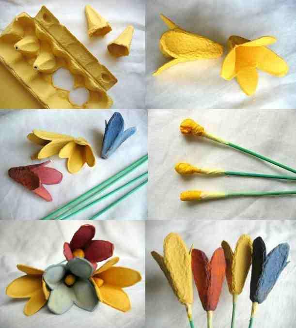kwiaty z papieru  Myśli małe i duże -> Kuchnia Kaflowa Krok Po Kroku